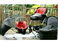 Mamas and Papas - Glide 3 in 1 Travel System
