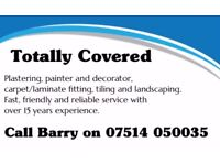 Professional plasterer, painter and decorator with over 15 years experience.