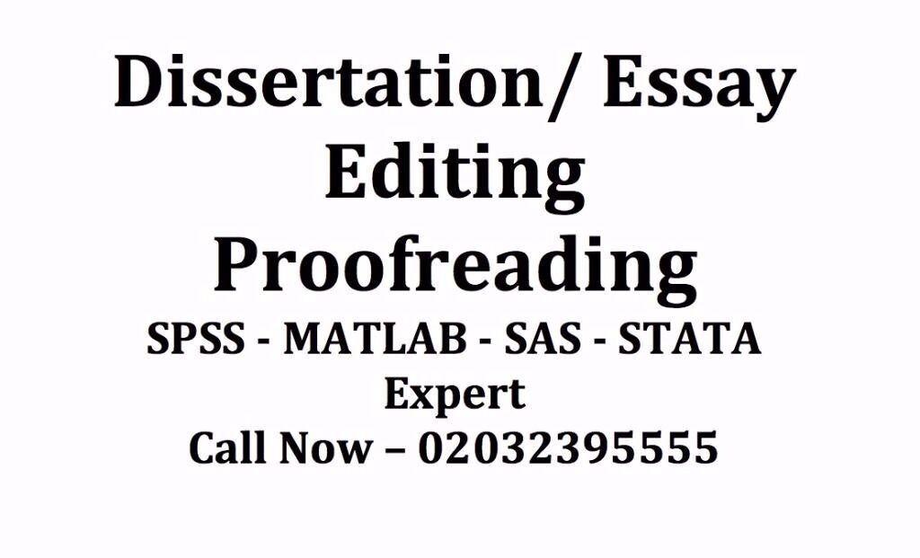 Dissertation editing help london