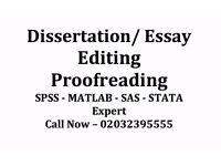 Dissertation / Essay / Assignment / Coursework / SPSS / Tuition / Writer / Proofread & Editing help?