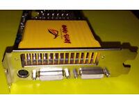 NVIDIA GeForce 8600GT DDR3 PCIe Graphics Card ASUS EN8600GT SILENT TV/HDTV/Dual DVI-I/VGA HDCP Comp.