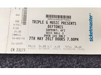 Deftones ticket -Glasgow- £29