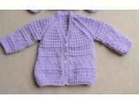 HAND KNITTED BABY CARDIGAN - NEW