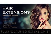 Fully qualifed hair extentionist in 5 methods of aplication