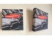 3x Small Square Canvas Prints