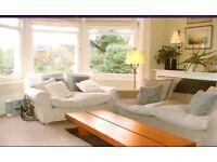 Long, low-level cherrywood veneer coffee table, Conran design, in very good condition