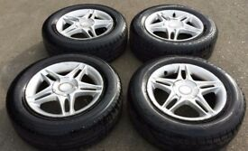 HONDA CIVIC ALLOYS WITH TYRES 195 / 65 / 15