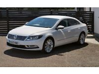 2013 VW CC GT TDI CANDY WHITE HEATED LEATHER FVSH LOW RATE FINANCE+FREE 6 MNT WARRANTY (PASSAT)