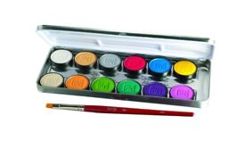 BEN NYE LUMIERE GRANDE COLOR PALETTE 12 pressed colours for face and body plus a brush