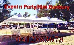 Trestle Tables $8, marquees $55 & White Chairs hire $1 5