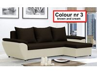 Corner sofa bed Jacob - with storage - many colours