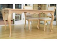 Next Lille French Oak Dining Table and Six Chairs - Never Used