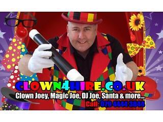 Children's entertainer joey - kids birthday party - magic, balloon modelling, bouncy castles, disco
