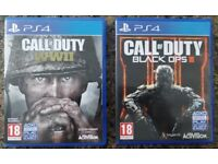 Call of Duty WWII & Black ops III for ps4