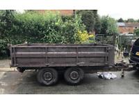 -10x5ft metal tipping trailer with drop down sides