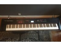 Roland RD-700sx stage piano and flight case