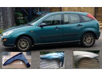 FORD FOCUS 1998-2005 BRAND NEW FRONT WING - PAINTED TO MATCH YOUR CAR SILVER, BLACK, GREY ETC