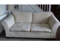 4 & 3 seater cream/beige Marks & Spencer sofas