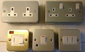 Metal Clad Double sockets,Switches and Spurs ( All item are for sale individually.)