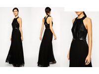COAST size 8 pleated maxi dress