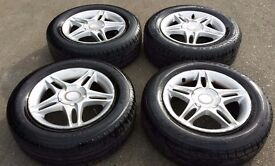HONDA CIVIC ALLOYS WITH TYRES 195/65 /15