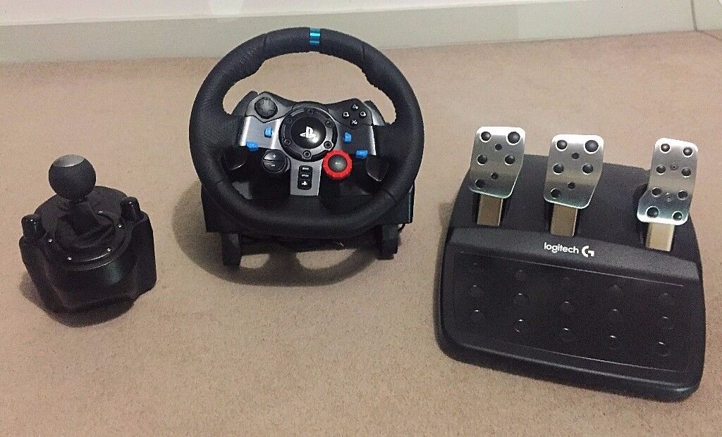 Logitech Driving Force G29 Wheel Gearstick Pedal Bundle PC PS3 PS4 Project