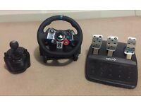 Logitech Driving Force G29 Wheel & Gearstick Pedal Bundle PC / PS3 / PS4 & Project Cars (PS4)