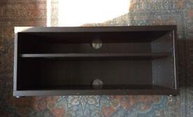 IKEA Mosjo TV Bench / Adjustable AV Unit - Black/Brown