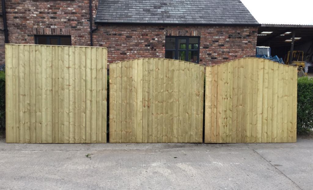 heavy duty pressure treated wooden garden fence panels various styles