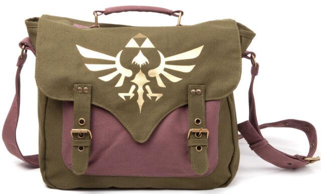 Zelda Tasche Canvas Messenger Bag Nintendo Umhängetasche Trifoce Logo