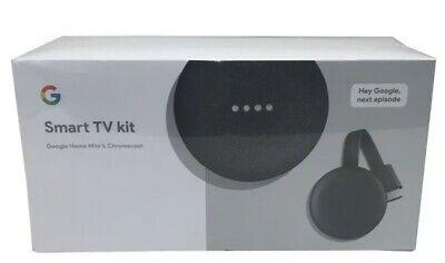 Google Smart TV Kit Google Home Mini & Chromecast Included New Factory Sealed