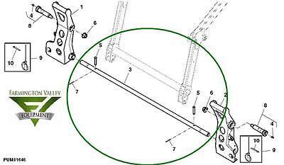 John Deere 4120 4320 4520 4720 Loader Equalizer Link Pin AW32737 w end pins NEW Garden