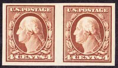 (10139) U.S./US: very nice #346  imperforate pair, NH, OG, great centering