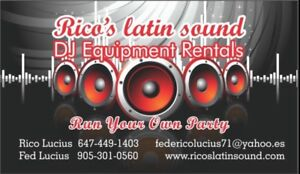 Dj lights and speaker for rent (run your own party)