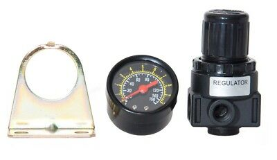 New Air Compressor Compressed Air Pressure Regulator W Gauge14 Npt Ports