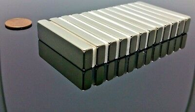 2 Neodymium Rare Earth N42 Bar Magnet 5000 Gauss Super Strong 2 X 12 X 14