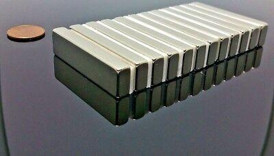2 Neodymium Rare Earth N42 Bar Magnet 5000 Gauss Super Strong 2 X 12 X 14