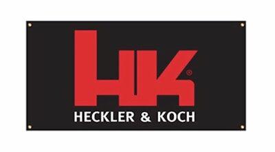 Heckler Koch 2' x 4' HK Vinyl Banner for Armorer Gun Dealer Mancave Pistol Ammo
