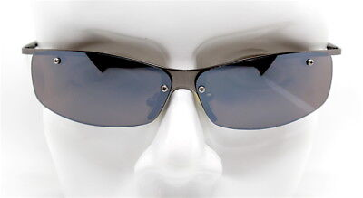 Sunglasses Men Rectangular Bottom without Frames Gunmetal Brown (Sunglasses Without Bottom Frame)