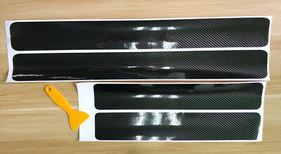 US Accessories Carbon Fiber Car Scuff Plate Door Sill 5D Sticker Panel Protector
