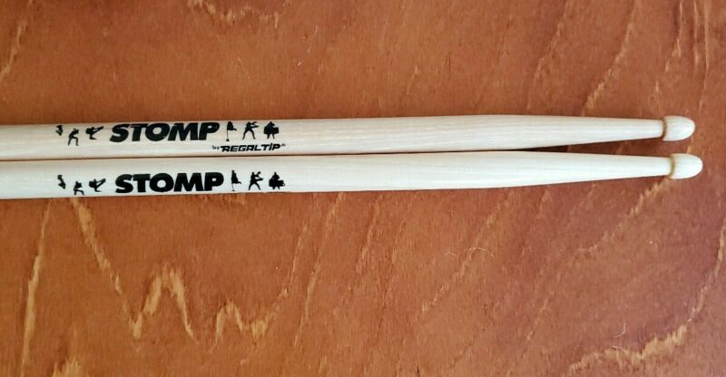 Regal Tip Wood Drum Sticks with Stomp Logo