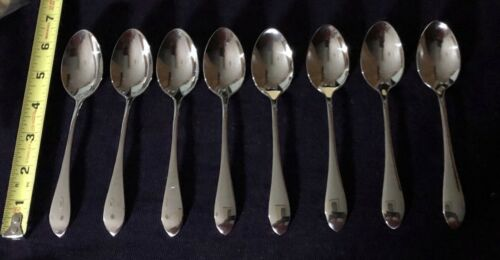 """Gorham """"Meredith"""" Pattern Stainless 18/8 flatware 8 tea spoons 6"""" NEW items"""