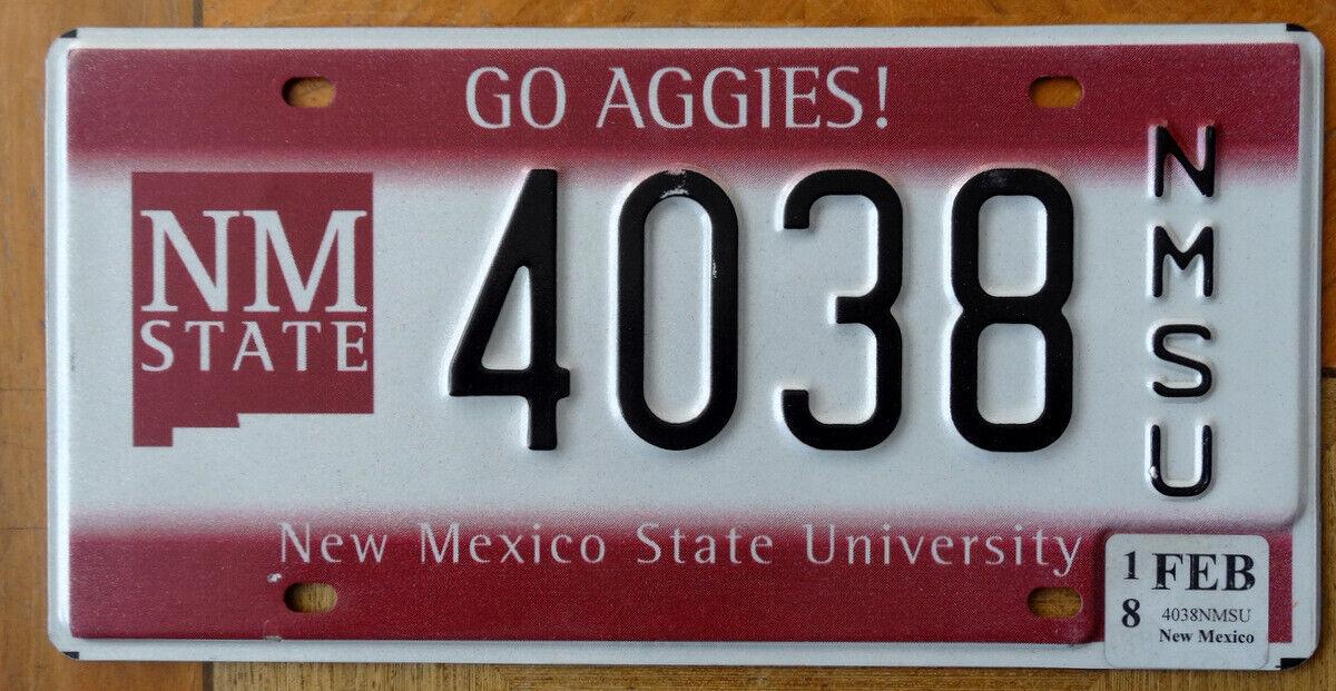 Nummernschild USA Kennzeichen NEW MEXICO STATE University 4038 SU Go Aggies NMSU