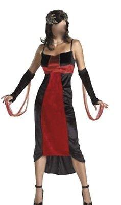 Mädchen Halloween Hexe Kostüme (Damen Mädchen Teufelin Vampir Hexe Halloween Kostüm ca. Gr S 36/38 Karneval )