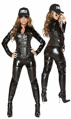 Deluxe Roma 4335 Bulletproof SWAT Babe Adult Women Cosplay Catsuit Costume S,M,L