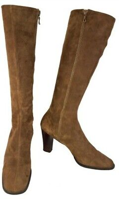 BALLY MADE IN SWITZERLAND SUEDE BROWN VICTORIAN GOGO BOOTS SIZE 8.5 N](Brown Gogo Boots)