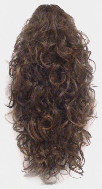 """20"""" LONG 3/4 CAP FALL MEDIUM CURLS CURLY HAIR EXTENSIONS W/C"""