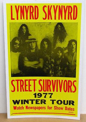 Vintage Lynyrd Skynyrd Concert Poster 1977 Tour Street Survivors TOUR ROCK ON