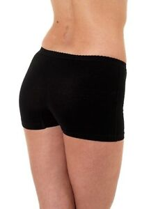 3 X LADIES SOFT STRETCH COTTON LYCRA BOXER SHORTS BRIEFS PLAIN COLOURS & SIZES