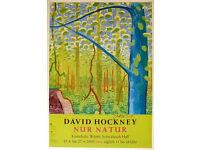 DAVID HOCKNEY - hand signed original exhibition poster- c2009 (Kunsthalle Würth. Francis Bacon cont)